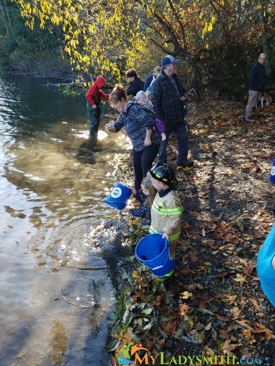 Fuller Lake Fish Release