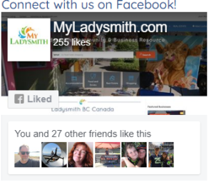 MyLadysmith - Facebook connect