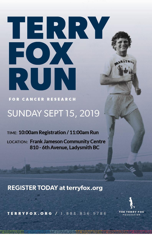 Terry Fox Run 2019 Poster